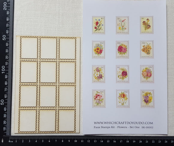 Faux Stamp Kit - Flowers - Set One