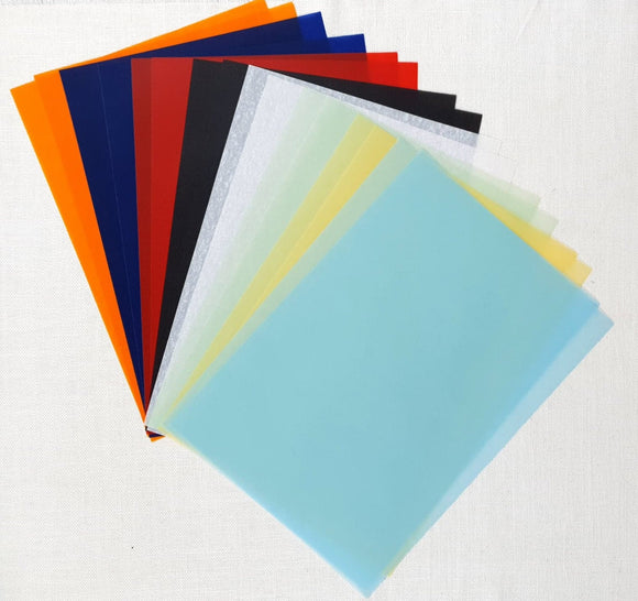 Parchment/Vellum Paper - A4 pack of 16 sheets - Assorted Colours