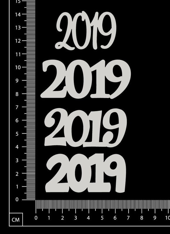 2019 Set - F - White Chipboard