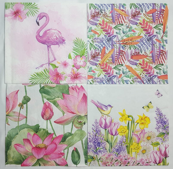Decoupage Napkins - Set of 4 - (DN-2064)
