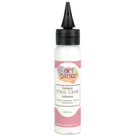 2 OZ (60mls) Art Glitter Glue - Designer Dries Clear Adhesive