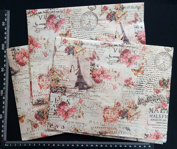 Decoupage Tissue Sheets - B - Set of 3 Pieces