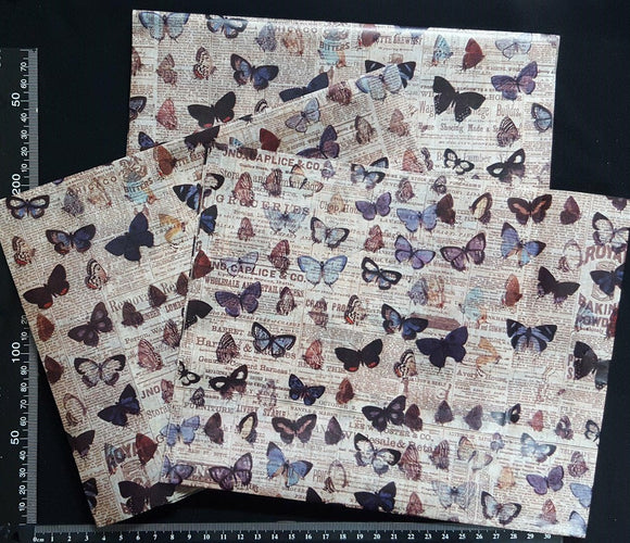 Decoupage Tissue Sheets - D - Set of 3 Pieces