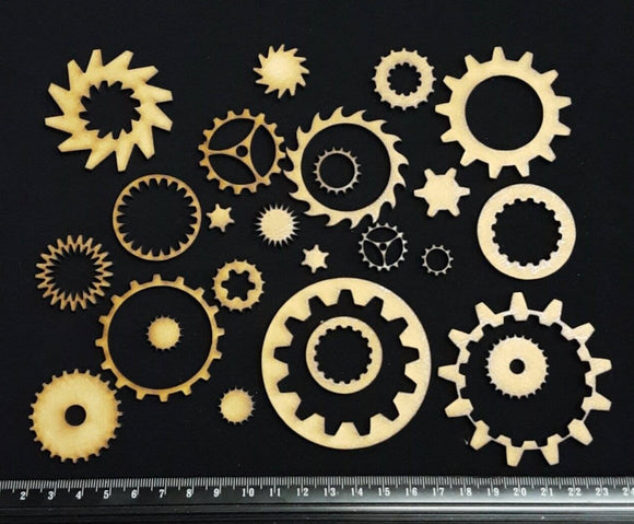 3mm MDF Wood - Gears