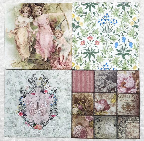 Decoupage Napkins - Set of 4 - (DN-4002)