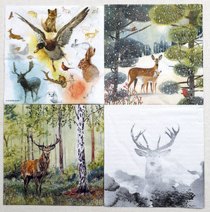 Decoupage Napkins - Set of 4 - (DN-4013)