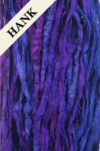 Reclaimed Sari Silk Ribbon - Hank - (H-4210) - Unique