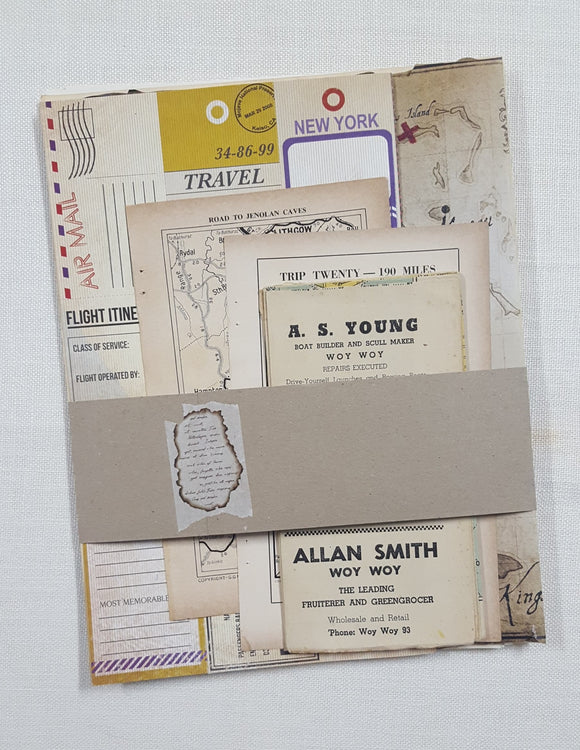 Vintage Map Themed Pages Pack - (PK-4273)