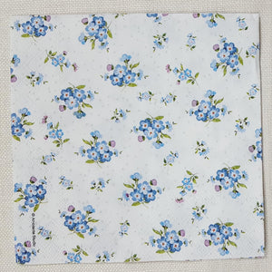 Decoupage Napkin - (DN-8038) - Forget Me Not