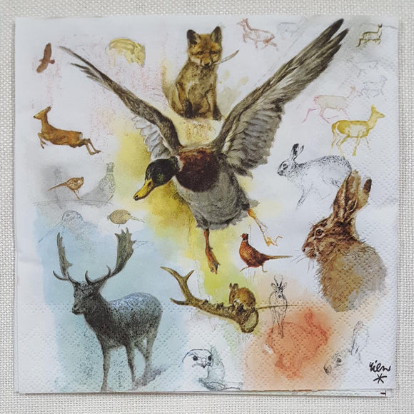 Decoupage Napkin - Wild Animals - (DN-8107)
