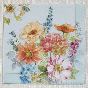 Decoupage Napkin - Cottage Flowers - (DN-8112)