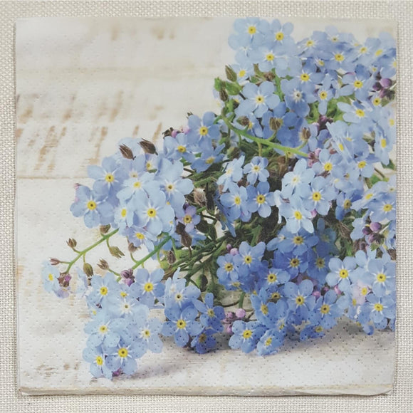 Decoupage Napkin - (DN-8173) - Forget-me-not