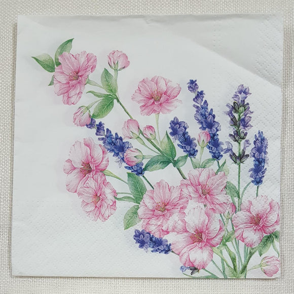 Decoupage Napkin - (DN-8185) - Gentle Bouquet