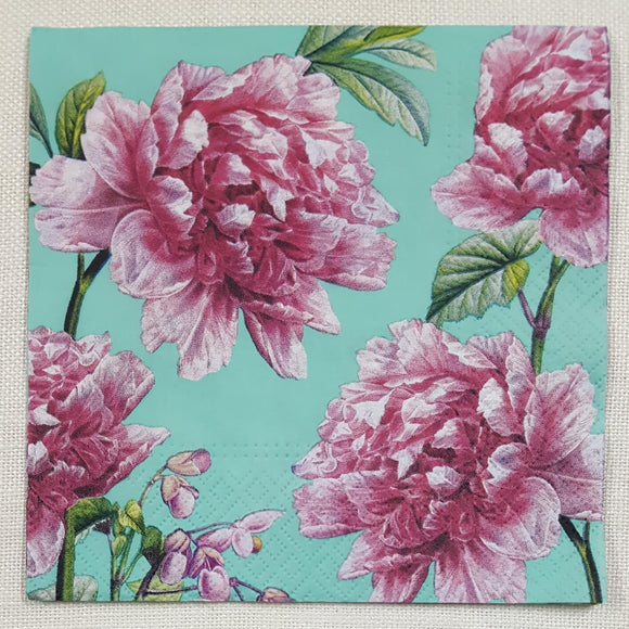 Decoupage Napkin - (DN-8187) - Beautiful Peonies
