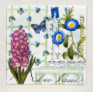 Decoupage Cocktail Napkin - (DN-8594) - Spring Greetings