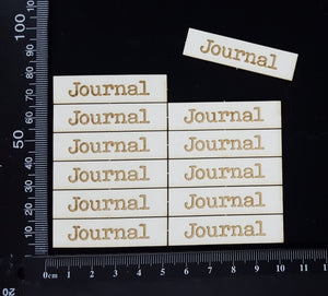 Laser Engraved Word Plates - Journal - Large - White Chipboard