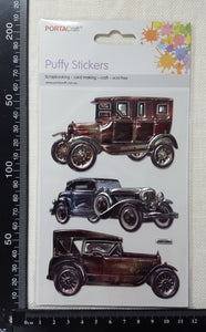 Embossed Stickers - Vintage Cars - (ES-1017)