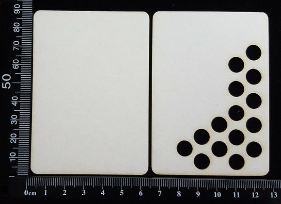 ATC - D - Circles - Layering Set - White Chipboard