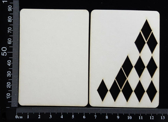 ATC - C - Diamonds - Layering Set - White Chipboard