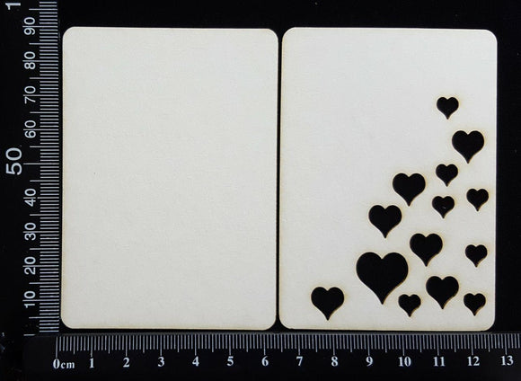 ATC - F - Hearts - Layering Set - White Chipboard