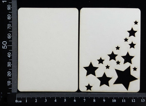 ATC - B - Stars - Layering Set - White Chipboard