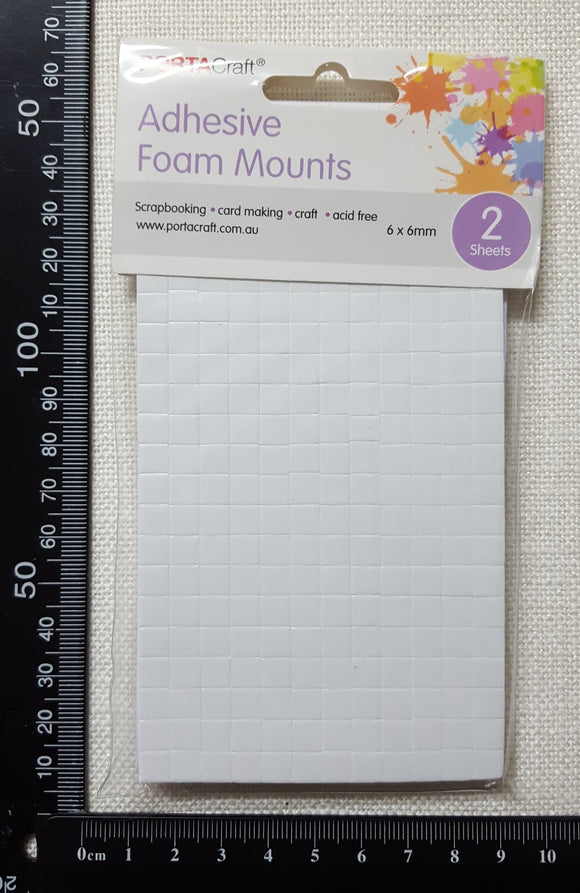 Adhesive Foam Mounts - Square - (PC-4239)