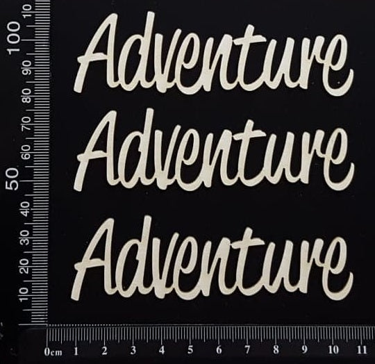 Adventure - B - Set of 3 - Small - White Chipboard