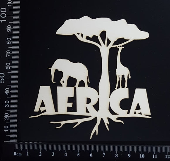 Africa - White Chipboard