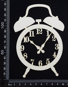 Alarm Clock - A - Large - White Chipboard