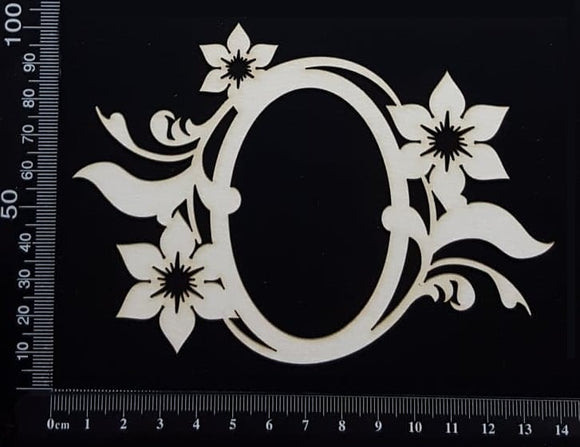 Alexis Floral Frame - A - large -  White Chipboard