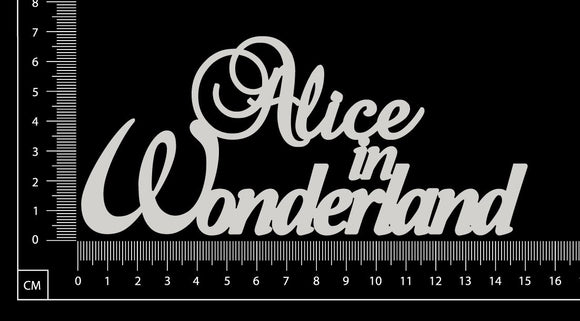 Alice in Wonderland - White Chipboard