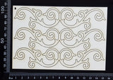 Amanda Border Set - B - Small - White Chipboard