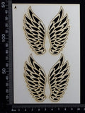 Angel Wings Set - A - White Chipboard