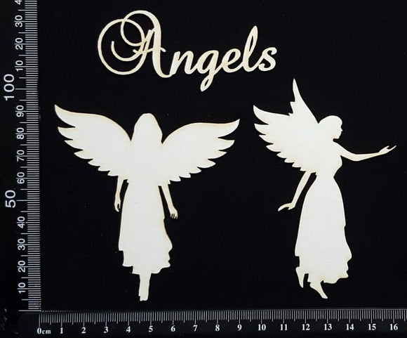 Angels Set - White Chipboard