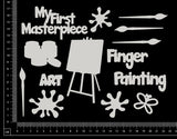 Art Elements Set - C - White Chipboard