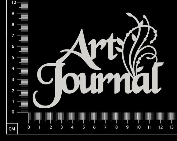 Art Journal - A - White Chipboard