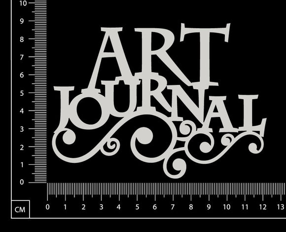 Art Journal - D - White Chipboard