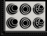 Artist Trading Coin Set - HA - White Chipboard