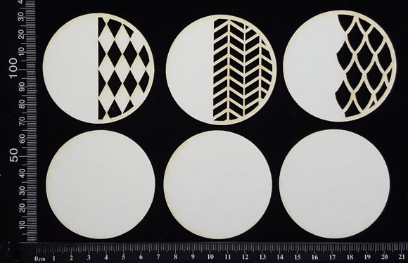 Artist Trading Coin Set - AC - White Chipboard