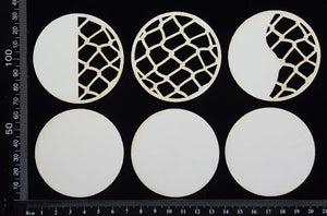 Artist Trading Coin Set - AJ - White Chipboard