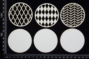 Artist Trading Coin Set - BE - White Chipboard