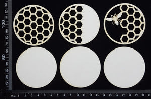 Artist Trading Coin Set - BL - White Chipboard