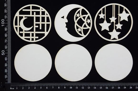Artist Trading Coin Set - CK - White Chipboard