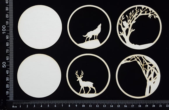 Artist Trading Coin Set - CR - White Chipboard