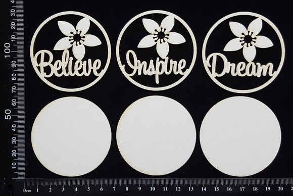Artist Trading Coin Set - DA - White Chipboard