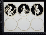 Artist Trading Coin Set - DQ - White Chipboard