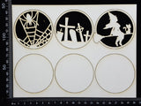 Artist Trading Coin Set - DX - White Chipboard