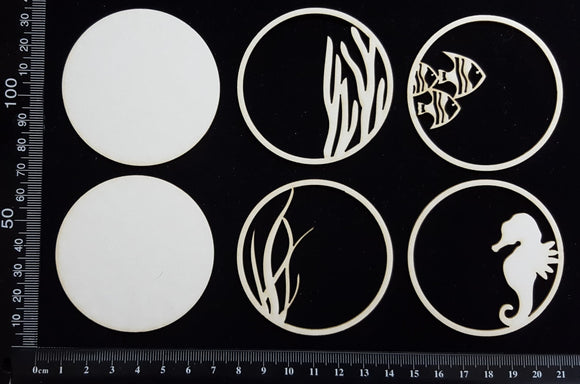 Artist Trading Coin Set - EL - White Chipboard
