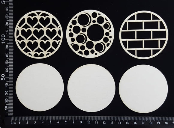 Artist Trading Coin Set - FB - White Chipboard