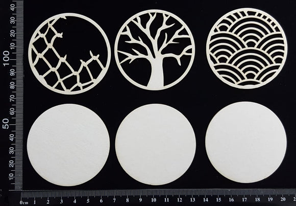 Artist Trading Coin Set - FI - White Chipboard